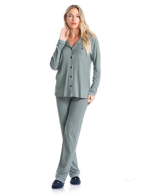 Pijama Aberto com Gola - 7106B