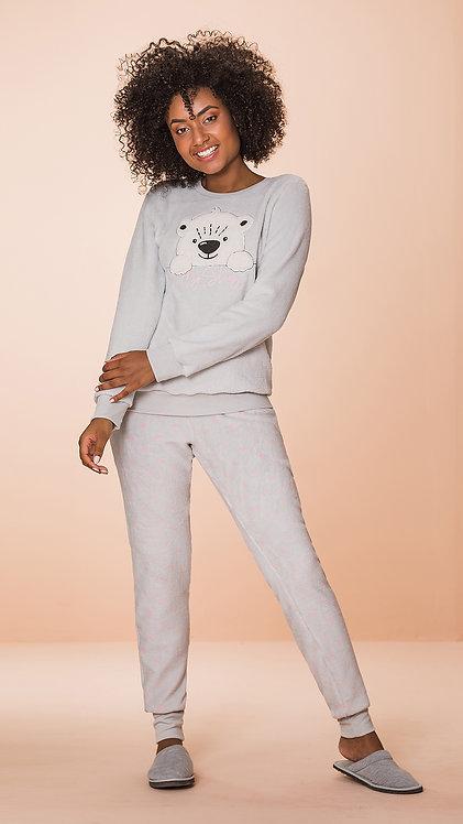 Pijama Soft Aplique Urso - 8612