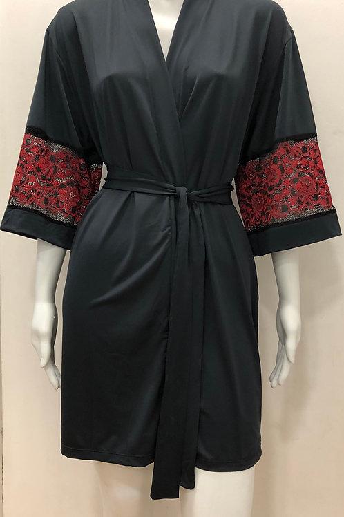 Robe com detalhe de renda vermelha - W19306