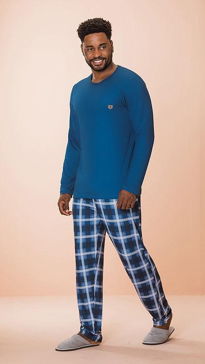 Pijama Longo Xadrez - 8644