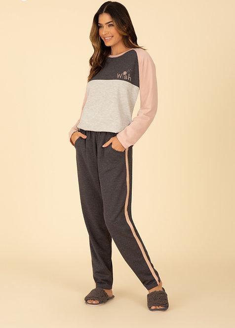 Pijama Moleton com Bolso - 100078