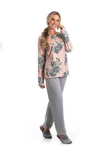 Pijama Soft Abertura Peitilho - 0801081