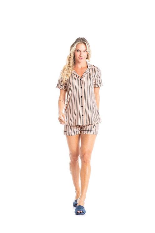 Pijama Curto Abotoado - 4724B