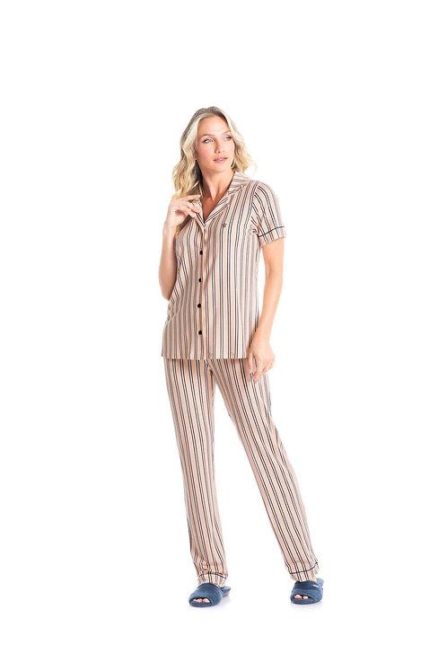 Pijama Longo Abotoado - 4726B