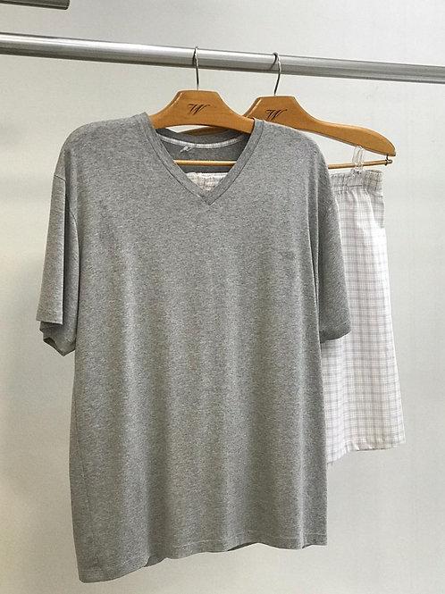 Pijama Masculino Short Xadrez - W19703