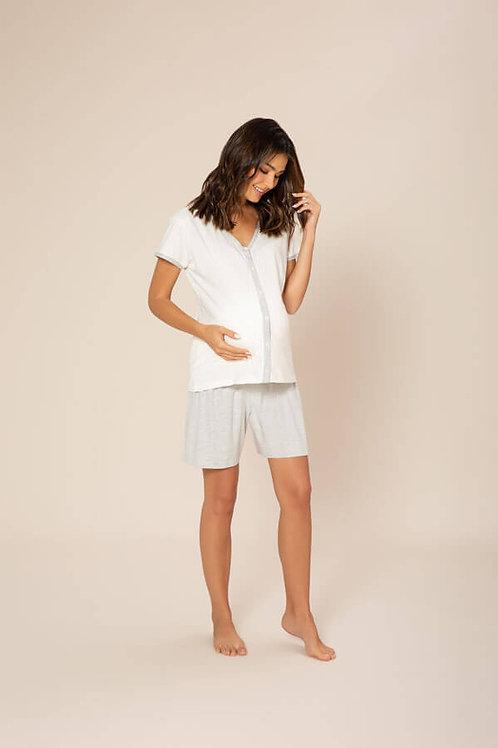 Pijama Curto Gestante - 020030