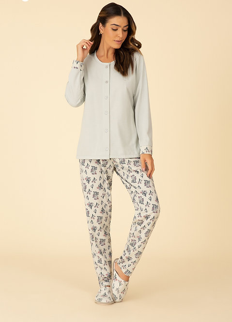 Pijama Moleton Aberto - 50077