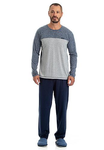 Pijama Longo Malha - 0802006