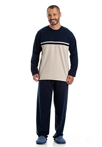 Pijama Moleton Marinho - 0802014