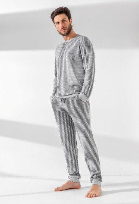 Pijama Longo Listrado - 01013