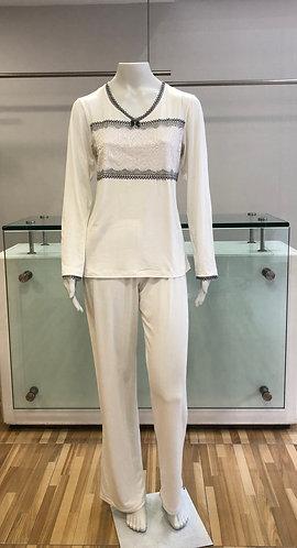 Pijama Longo com Renda - W21420