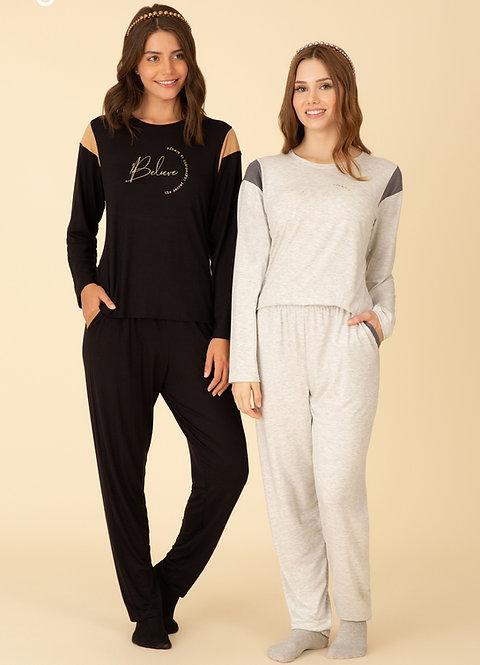 Pijama Malha com Bolso - 40184