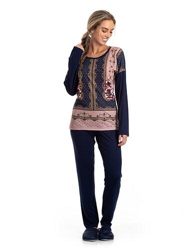 Pijama Blusa Estampada - 0801053