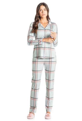 Pijama Longo Aberto - 8356B