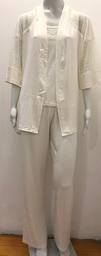 Pijama 3 peças pérola - W19423