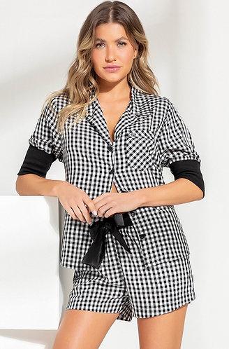 Pijama Curto Punho Canelado - 9812
