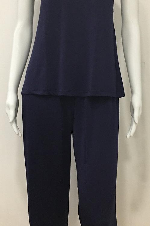 Pijama Azul Marinho com detalhe de Renda - W17450