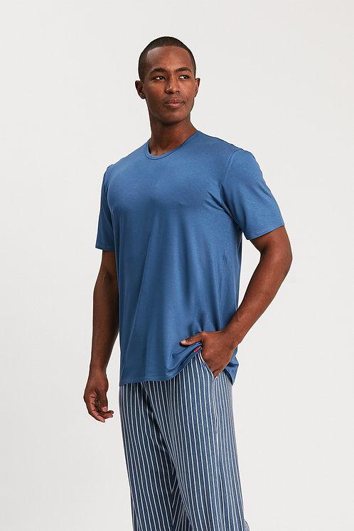 Pijama Longo Manga Curta - 14036