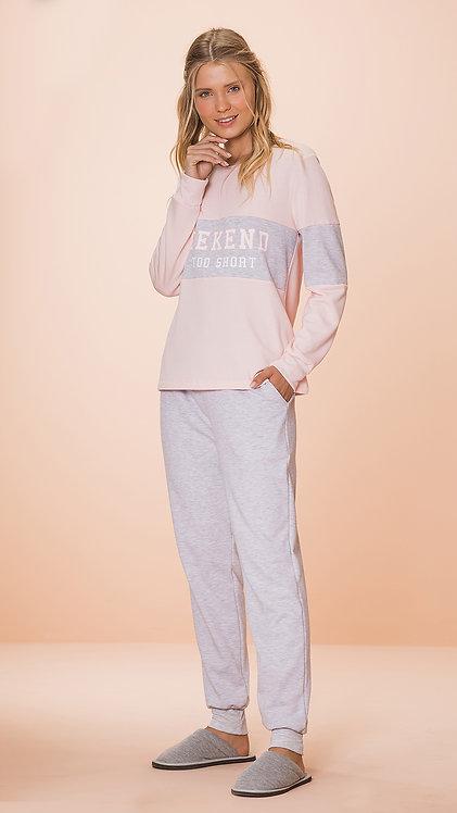 Pijama Moletom - 8592