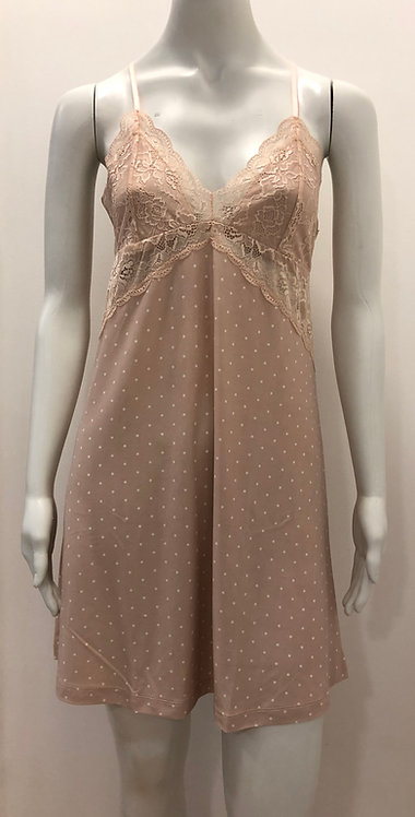 Camisola de alcinha poá rosa -  W19204