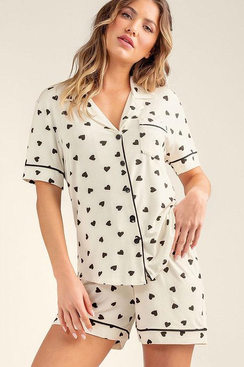 Pijama Curto Aberto - 9800