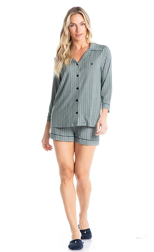 Pijama Curto Abotoado - 7108B