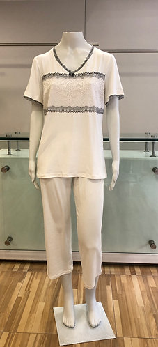 Pijama Pescador com Renda - W21419