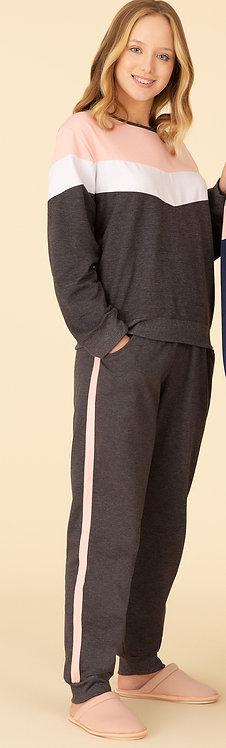 Pijama Moleton Recortes - 40175