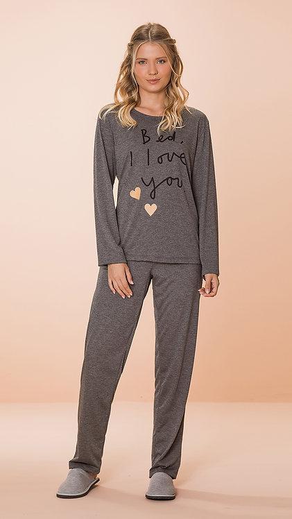 Pijama Malha Corações - 8578