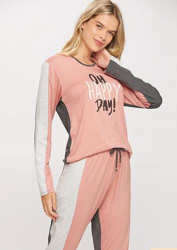 Pijama Longo Tricolor Visco - 14529