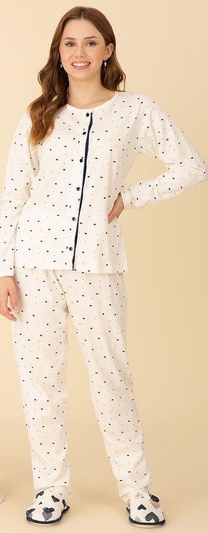 Pijama Aberto Algodão - 40174