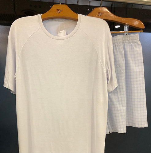 Pijama Masculino Branco - W19703