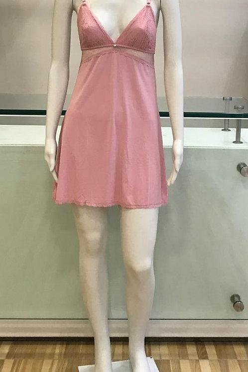 Camisola Rosa com Detalhe de Renda