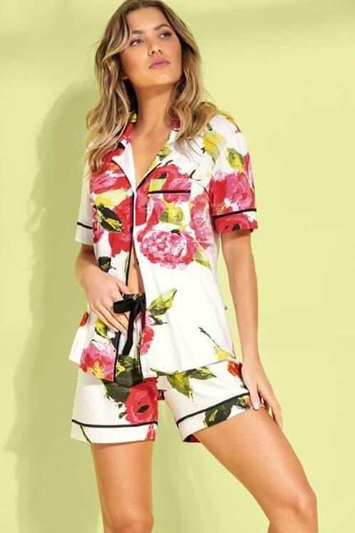 Pijama Curto Floral - 9845
