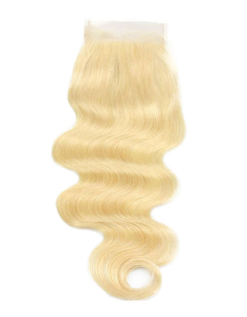 Blonde Body Wave Hair Extension Closure | 100% Virgin Human Hair