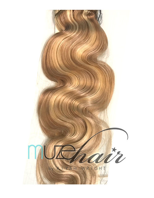 Body Wave Blonde Clip In Hair Extensions | 20in