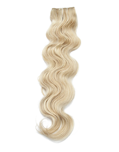 Body Wave Clip In Hair Extensions   Blonde 100% Virgin Human Hair