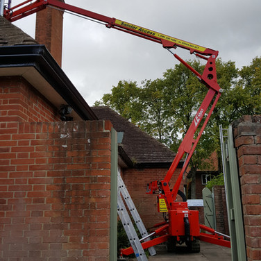 Narrow access hire for tall roof