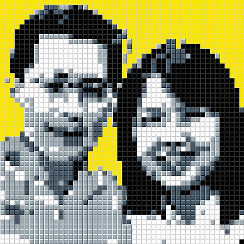 Personalised Portrait (Duo) Black & White