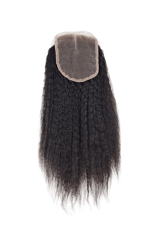 Kinky Straight Hair Extension Closure | 100% Virgin Human Hair