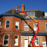 Newcastle School for Boys high roof slate repair