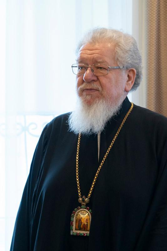 Поздравление с днем тезоименитства митрополиту Воронежскому и Лискинскому Сергию от клира и мирян.