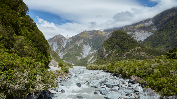 Waiho River, fed by Franz Josef Glacier