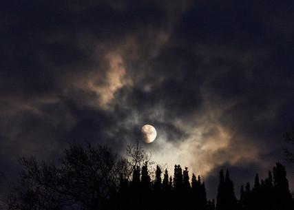 Atmospheric night at Chatsworth House, Derbyshire
