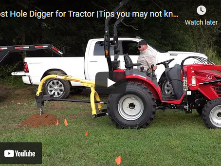 Little-known Tractor Post Hole Digger Tips and Techniques