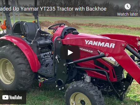Yanmar YT235 Tractor with Backhoe Product Overview and Review