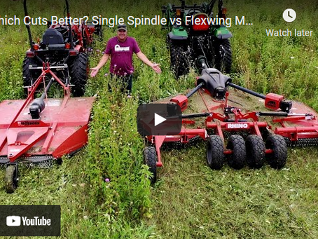 Implement Wars: Single Spindle vs Flexwing Tractor Mower