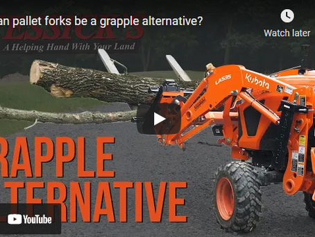 How to Use Tractor Pallet Forks As a Grapple Alternative