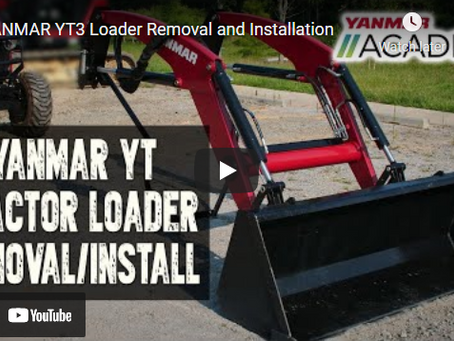 How to Install and Remove a Loader On a YANMAR YT3 Tractor