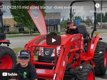 Everything You Can Do With a KIOTI CK2610 Mid-sized Tractor